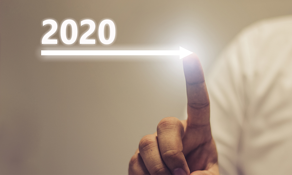 2020 with arrow
